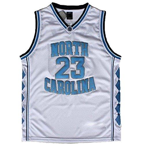 NO.23 retro Jordan North Carolina University throwback basketball jerseys embroidery double-slit white L