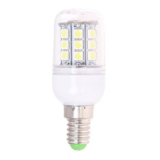 TOOGOO (R) Bombilla E14 30 LEDs 5050 SMD Foco Spotlight Blanco AC 220V-