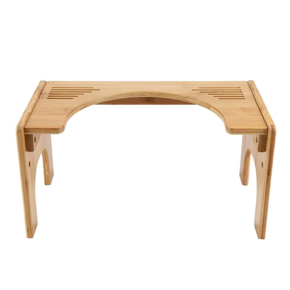 Adjustable Bamboo Potty Stool Chair, Squatting Toilet Stool, Ideal for anyone with toilet problems by HB Toilet Stool