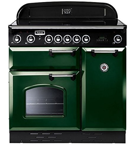 Falcon blocco cucina CLASSIC verde 90/cromo - griglia di ...