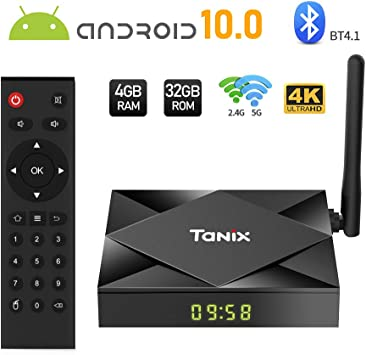 TV Box Android 10.0, Sidiwen TX6S Smart TV Box 4GB RAM 32GB ROM, Allwinner H616 Quad-