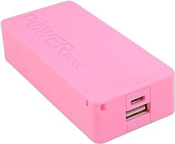 hengduolailin Power Bank Case, 6 colores 5600mAh 5V USB DIY Powerbank Case Caja de almacenamiento de batería externa portátil para teléfonos móviles: Amazon.es: Iluminación