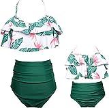 e09e79551247a 8 · Swimsuit for Girls Two Pieces Bikini Set Matching Family Ruffle  Swimwear Kids Bathing
