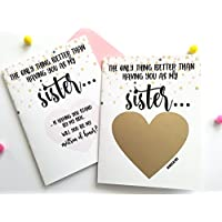 Matron of Honor Proposal Scratch Off Card for Sister