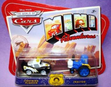 Disney CARS Mini Adventures Radiator Springs Lightning McQueen and Tractor