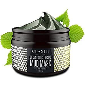 OLAXER SC005 Sea Mud Mask Deep Cleansing Facial Mask, Blackheads and Acne Remover, Pore Minimizer and Oil Control, 7.05 oz