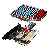 EZDIY-FAB 5V ARGB Dual M.2 Adapter for SATA and