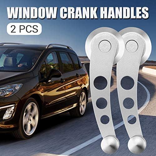 gfjfghfjfh 2 Pezzi di Alluminio Universale Torna Sostituzione Auto SUV Veicolo del Camion della Finestra di Automobile Manovelle Winder Riser Kit
