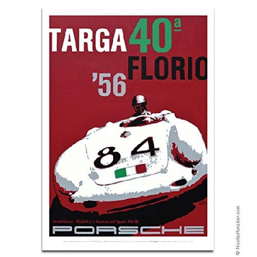 本物保証!  Nicolas Hunzikerポルシェ550 A Targa Nicolas Florio 1956ポスター Targa A B00I0FY6H0, STROLL【ストロール】STL:bdba8c74 --- a0267596.xsph.ru