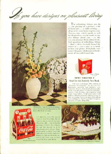 If you have designs on pleasant living Coca-Cola ad 1941 6-bottle ()