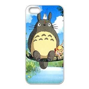Ghibli Mi neighbo iPhone 4 4S caja del teléfono celular funda blanca del teléfono celular Funda Cubierta EEECBCAAJ72505