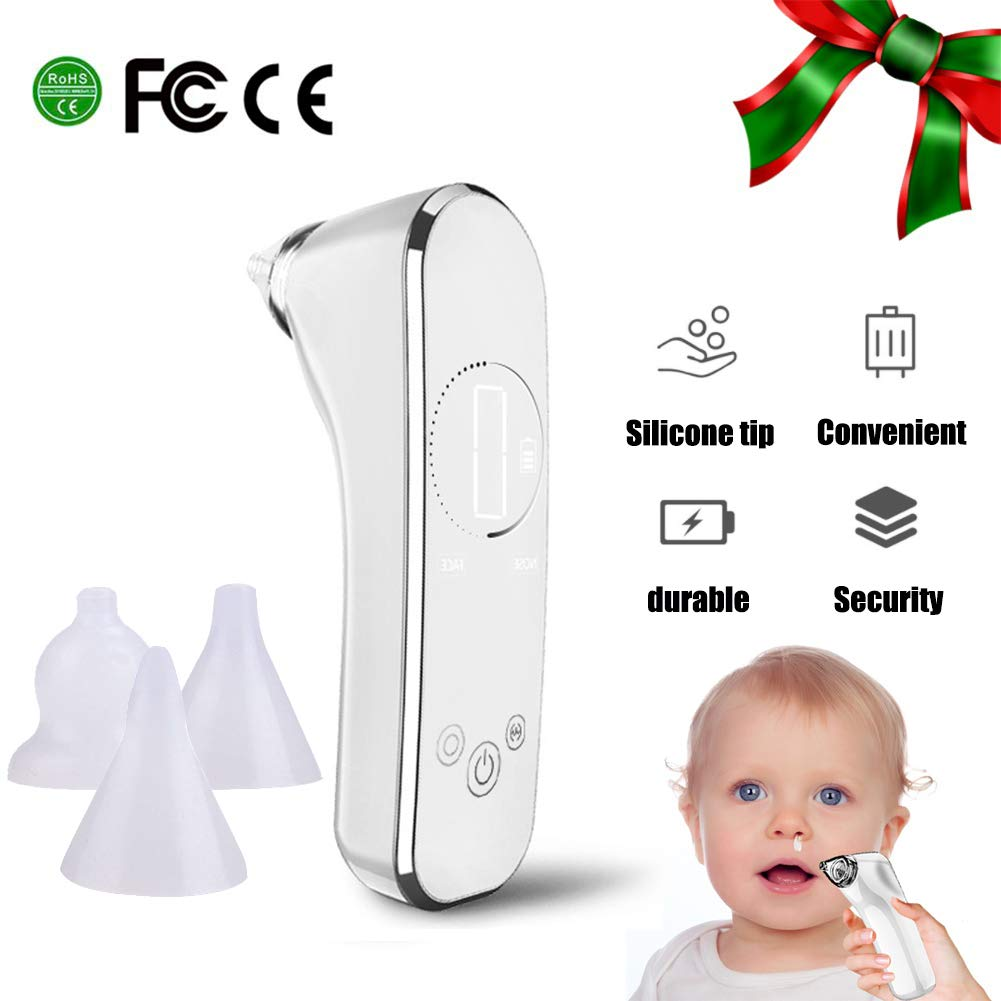 YQZ Electric Nasal Aspirator, Nostril Cleane Safe Hygienic LCD Screen 3 Sizes of Nose Tips Baby Child Nasal Congestion Cleaning by YQZ