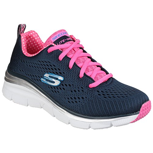 Skechers Dames / Dames Fashion Fit Statement Stuk Gevoerde Gympen / Sneakers Zwart / Turquoise