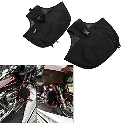 YHMTIVTU Motorcycle Engine Guard Cover Soft Lowers Chaps for Touring Street Glide Road King Road Glide Electra Glide and Trike Models 1980-2020 (Harley Davidson Motorcycle Lowers)