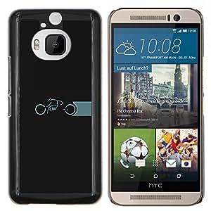 Caucho caso de Shell duro de la cubierta de accesorios de protección BY RAYDREAMMM - HTC One M9Plus M9+ M9 Plus - Motos Tron
