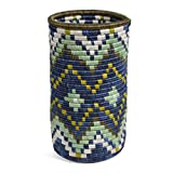 All Across Africa Handwoven 8.5-inch Island Paradise Ikiyaga Vase