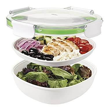 OXO Good Grips on the Go Salad Container, Green