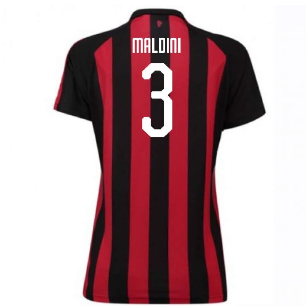 2018-2019 AC Milan Puma Home Damenschuhe Football Soccer T-Shirt Trikot (Paolo Maldini 3)