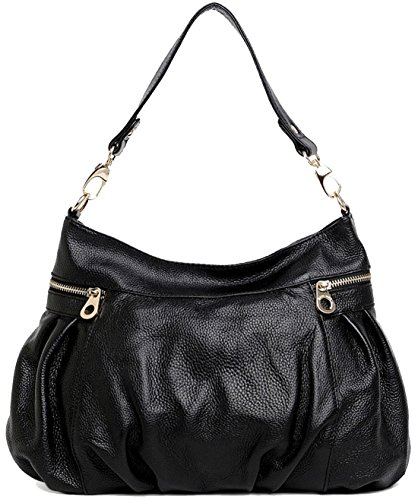 Women��s Black Satchel Leather Top Kuer R Bag Handle Shoulder Purse Tote Hereby Handbag Cross Body 6qxETw7HH