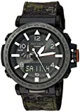 Casio Men's 'PRO TREK' Quartz Resin and Cloth Casual WatchMulti Color (Model: PRG-650YBE-3CR)