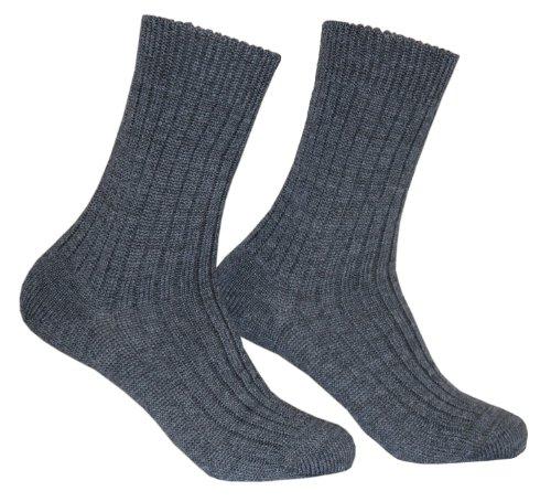 Tobeni 1 Paire de Chaussettes Militaires Travaillent Laine courte Couleur Gris Taille 44-45 2
