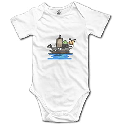 Love Hope Baby Pirate Ship Cool Baby Clothes Short Sleeve Unisex Bodysuit Onesies