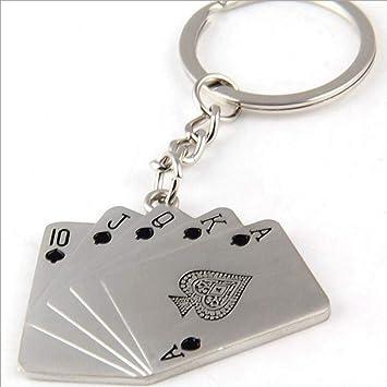 SXY Poker Straight Flush Llavero Herramientas Llavero para ...