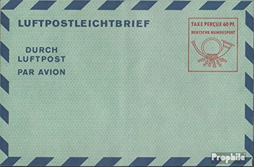 FRD (FR.Germany) LF7a airmail-Faltbrief 1951 Value Box (documents philatelic Covers for Collectors)