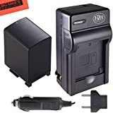 BP-827, BP827 Battery & Battery Charger for Canon Vixia HF11, HF20, HF21, HF200, HFG10, HFG20, HFM30, HFM31, HFM32, HFM40, HFM41, HFM300, HFM301, HFM400, HFS10, HFS11, HFS20, HFS21, HFS30, HFS100, HFS200, HG20, HG21, XA10 Camcorder