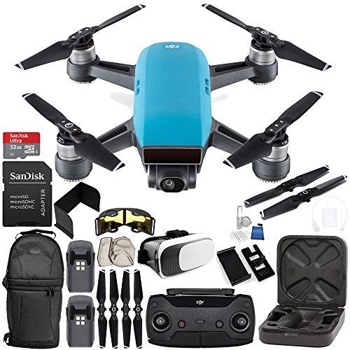 DJI Spark Portable Mini Drone Quadcopter (Sky Blue) + DJI Spark Remote Controller EVERYTHING YOU NEED Essential Bundle