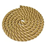 SGT KNOTS ProManila Rope (1.5 inch) UnManila Tan Twisted 3 Strand Polypropylene Cord - Moisture, UV, and Chemical Resistant - Marine, DIY Projects, Crafts, Commercial, Indoor/Outdoor (25 ft)