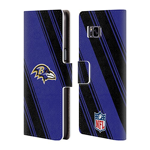 - Official NFL Stripes 2017/18 Baltimore Ravens Leather Book Wallet Case Cover for Samsung Galaxy S8