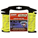 Lehigh RMFPY1450 1/4-Inch by 50-Feet Reflective Polypropylene Rope, Yellow