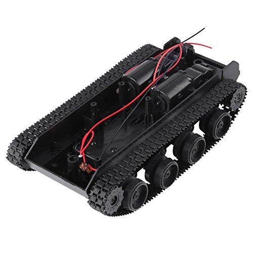 image Kit de DIY Châssis de Tank Robot Voiture à Chenilles Intelligente Bricolage Absorption de Choc Légère avec Motor Universel 130 pour Arduino