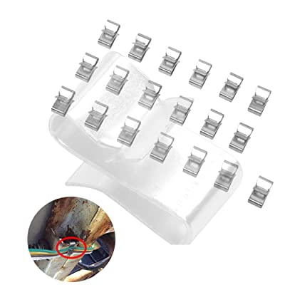 Hydraker 25Pcs Trailer Wire Clips Organize Hide Protect Wiring to Frame: Automotive