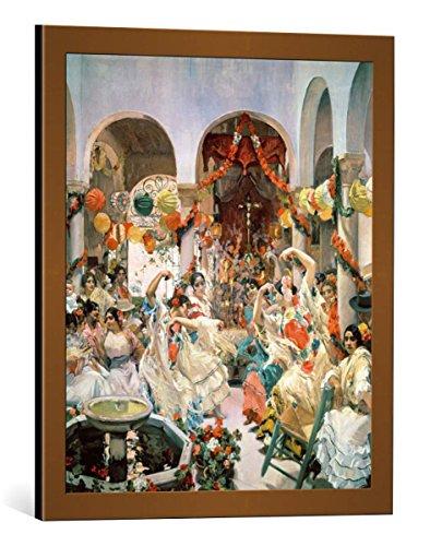 kunst für alle Framed Art Print: Joaquin Sorolla y Bastida Seville - Decorative Fine Art Poster, Picture with Frame, 19.7x23.6 inch / 50x60 cm, Copper Brushed