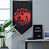 Sevenstars Game of Thrones Tapestry Wall Hanging House Targaryen Tapestry Wall Banner with Tassel Fringe, 27.5 Inch x 45 Inch