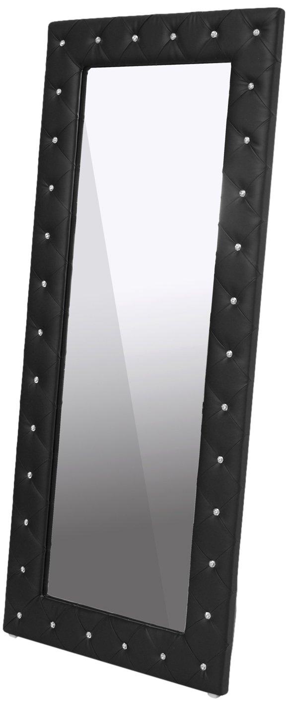 Amazon.com: Baxton Studio Stella Crystal Tufted Modern Floor Mirror ...