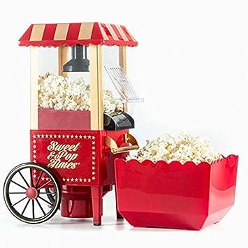 Eurowebb máquina de Palomitas de maíz sin Aceite 1200 W Rojo ...