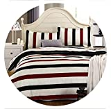 retro store 100% Cotton Home Textile,Reactive Print 4Pcs Bedding Sets Luxury Duvet Cover Bed Sheet Pillowcase,King/Queen/Full Size, Bed Linen,Chocolate,Full