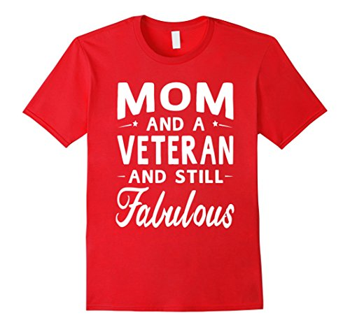 Men's Mother's Day Gifts Women Fabulous Veteran Mom T-shirt Medium Red