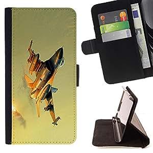 For Samsung Galaxy S4 IV I9500 - Modern fighter /Funda de piel cubierta de la carpeta Foilo con cierre magn???¡¯????tico/ - Super Marley Shop -