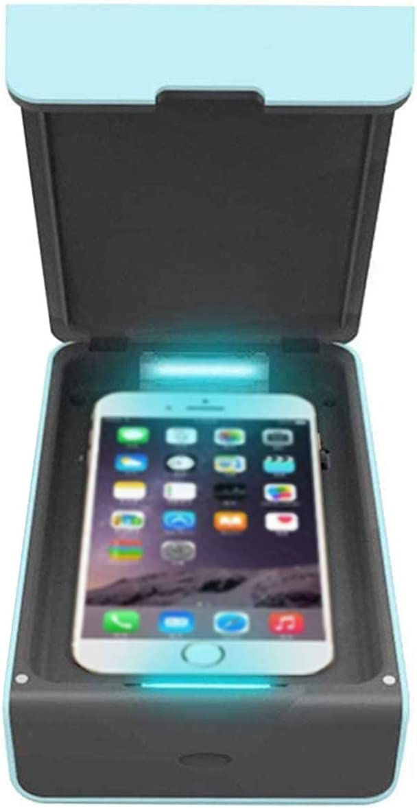 White UV Smart Phone Sanitizer Cell Phone Sanitizer UV Disinfection Box for for All iPhone Android Cellphone