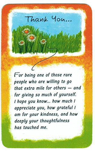 Wallet Cards - Thank you for Being one of those Rare People