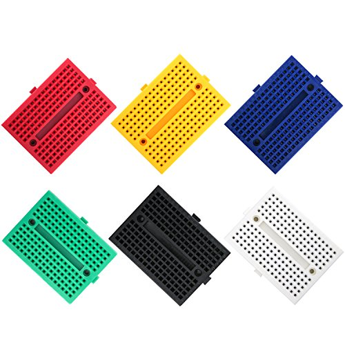 ELEGOO 6PCS 170 tie-Points Mini Breadboard kit