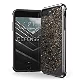 iPhone 8 Plus, iPhone 7 Plus, iPhone 6 Plus Case, X-Doria Defense Lux Series - Military Grade Drop Tested Case for Apple iPhone 8 Plus, iPhone 7 Plus & iPhone 6 Plus (Dark Glitter)