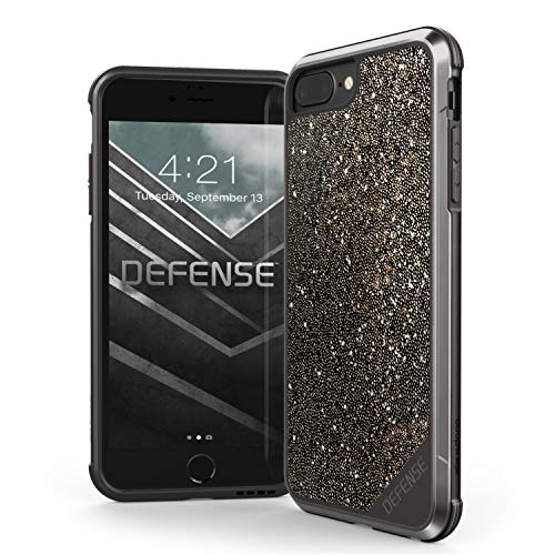 iPhone 8 Plus, iPhone 7 Plus, iPhone 6 Plus Case, X-Doria Defense Lux - Military Grade Drop Tested Case for Apple iPhone 8 Plus, iPhone 7 Plus & iPhone 6 Plus (Dark Glitter)