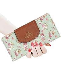 septcity Mujer cartera Cute Embrague regalo para ella de piel suave, diseño floral, 2071