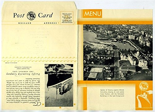 Used, S S Dorothy Alexander Menu 1931 Pacific Steamship Company for sale  Delivered anywhere in USA