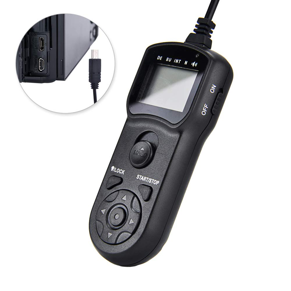 Timer Remote Shutter Cord JJC Timer Shutter Release Remote Control Cord for Sony A6500 A6300 A6000 A5100 A5000 A3500 A9 A7 III A7 II A7S II A7R III A7R II NEX-3NL Replaces Multi Connector/RM-SPR1